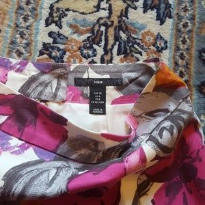 H&M Skirts - H&M floral cotton pleated skirt US 6